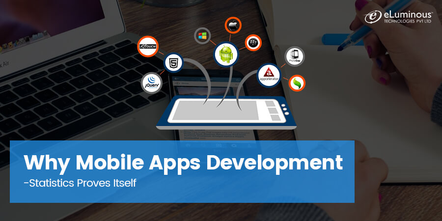 Statistics proving why more companies are focusing towards Mobile Apps development.