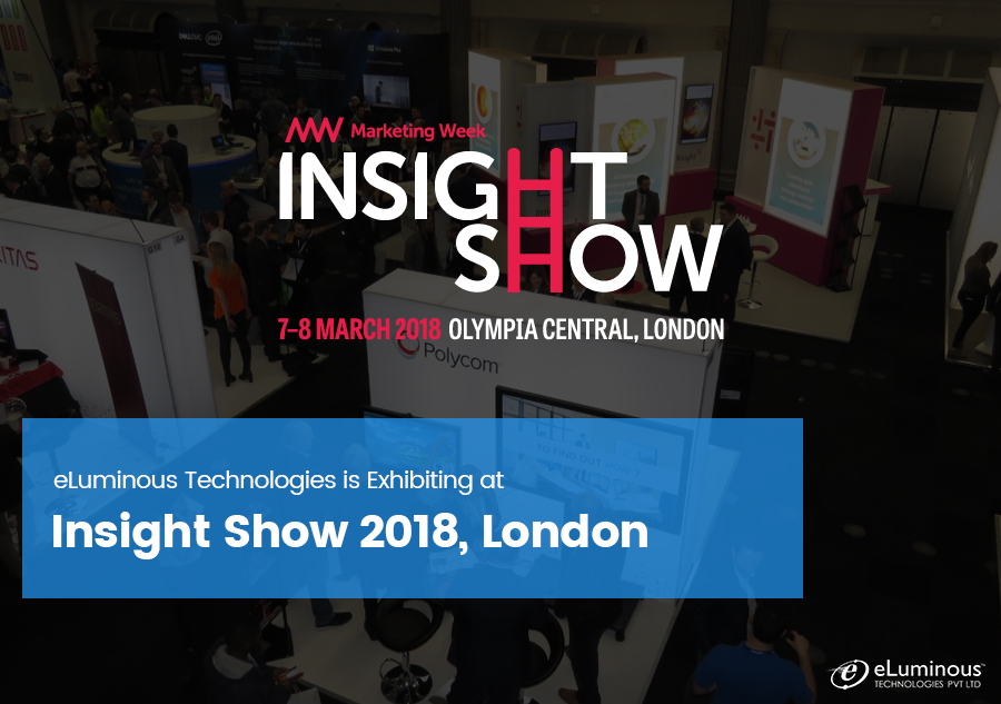 eLuminous Technologies is Exhibiting at Insight Show 2018, London